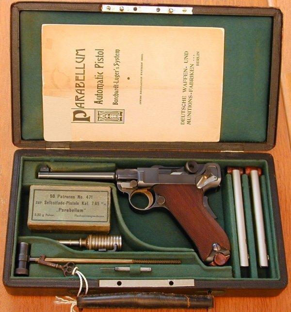 Borchardt-Luger model 1900 commercial