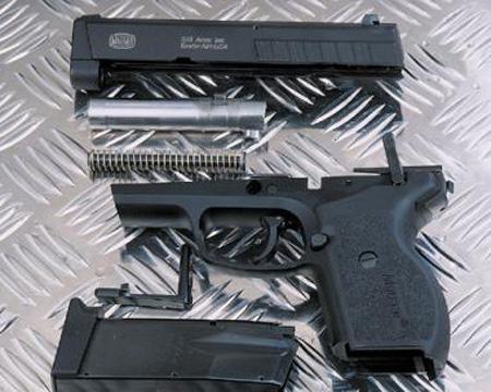 Неполная разборка пистолета Маузер М2