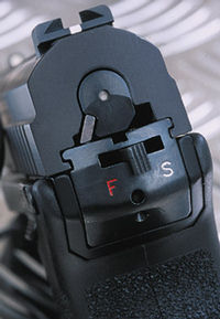 Флажковый предохранитель пистолета Маузер М2
