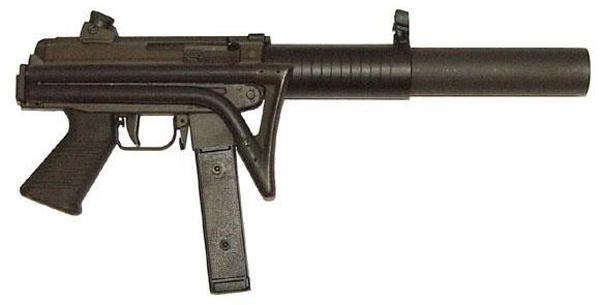 Пистолет-пулемет FAMAE S.A.F. с интегрированным глушителем
