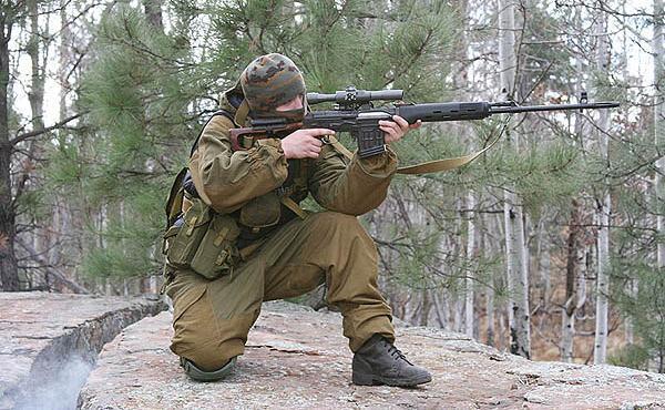 Снайперская винтовка СВД в Российской Армии