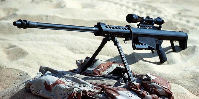 Крупнокалиберная снайперская винтовка Barrett M82A1 раннего выпуска