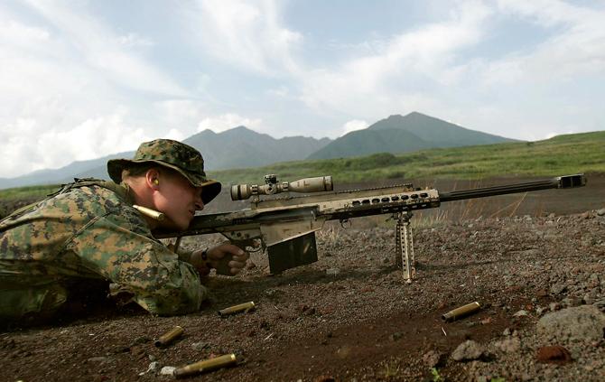 Крупнокалиберная снайперская винтовка Barrett M82A3