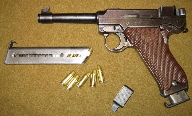 Пистолет Lahti L-35 с магазином и патронами