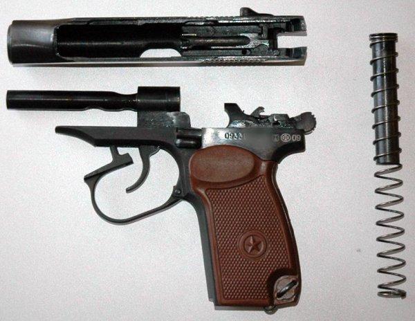 Неполная разборка травматического пистолета MP-79-9TM