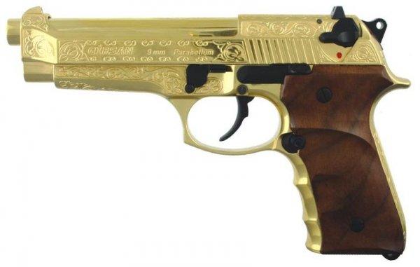 Пистолет Grissan Yavuz 16 с художественной отделкой