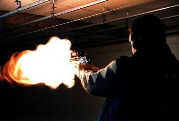 Desert Eagle 50AE muzzle flash