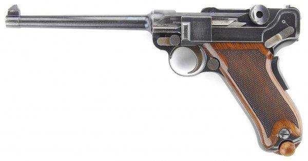 Предпроизводственный прототип пистолета Borchardt-Luger