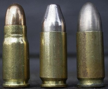 патрон 7,65mm Parabellum и патроны 9mm Parabellum