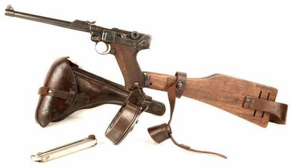 """""""Артиллерийская модель"""" - Lange Pistole 08 выпуска 1916 года"""