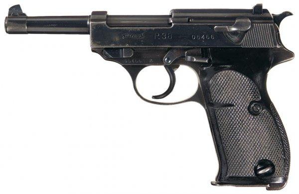 Пистолет Walther P.38 нулевой серии с логотипом фирмы Walther