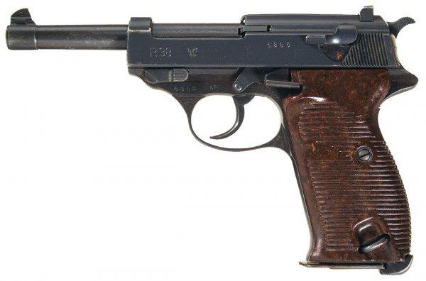 Walther P.38 с обозначением