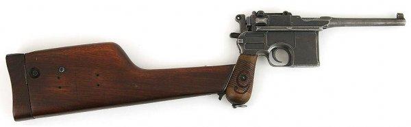 Пистолет Mauser С-96 «Red Nine» с присоединенной кобурой-прикладом