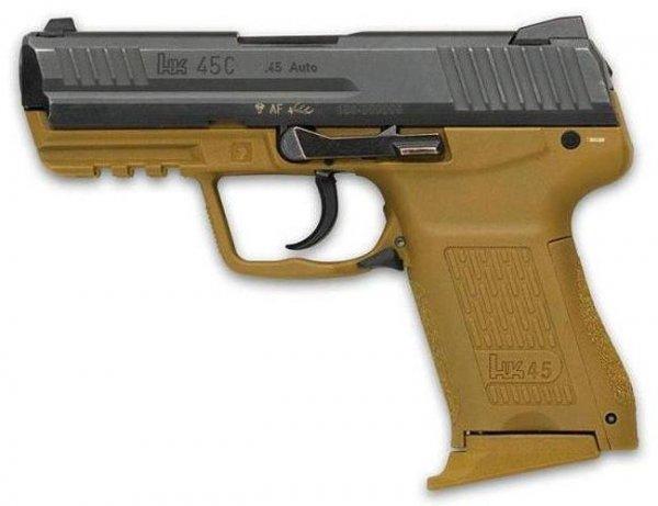Пистолет HK 45C с рамой песочного цвета