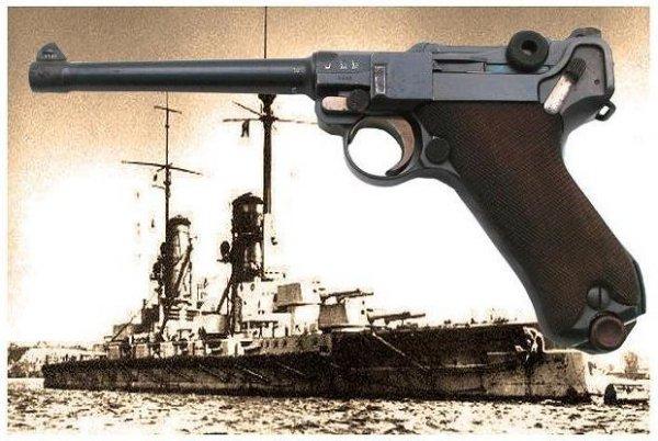 """Люгер """"Морская Модель"""" - Pistole 1904 и германский рейдер """"Кронпринц Вильгельм"""""""