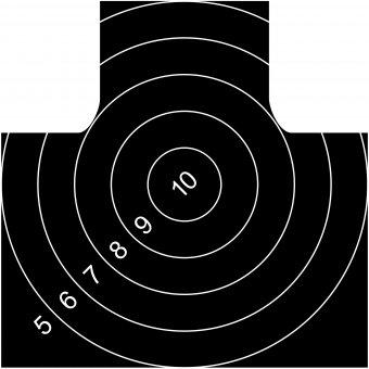 Пистолетная мишень для стрельбы на 25 метров
