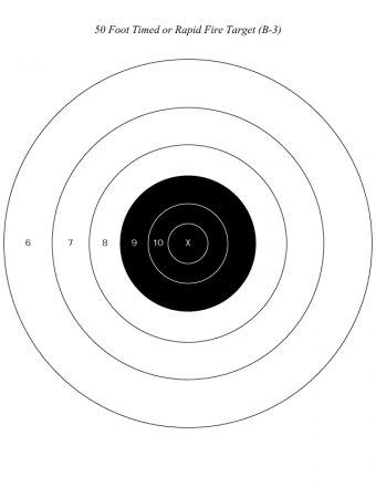 Мишень NRA на 15 м для скоростной стрельбы