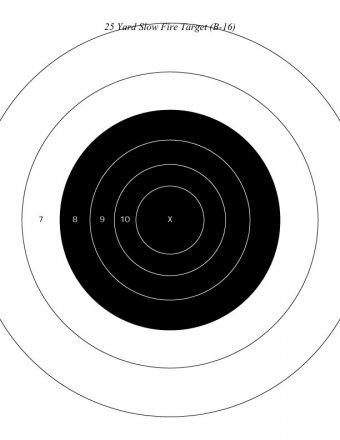 Мишень NRA на 25 ярдов для медленной стрельбы