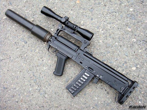 Бесшумный автомат ОЦ-14 Гроза / OC-14 Groza assault rifle