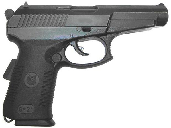 Пистолет СР.1М производства ЦНИИТОЧМАШ / Russian SR.1M 9mm pistol