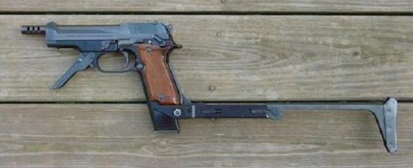 Beretta M 93R with stock