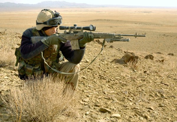 Винтовка M14 / U.S. M14 Sniper Version in Afghanistan